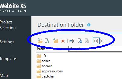 WebSite X5 Help Center - Upload a file
