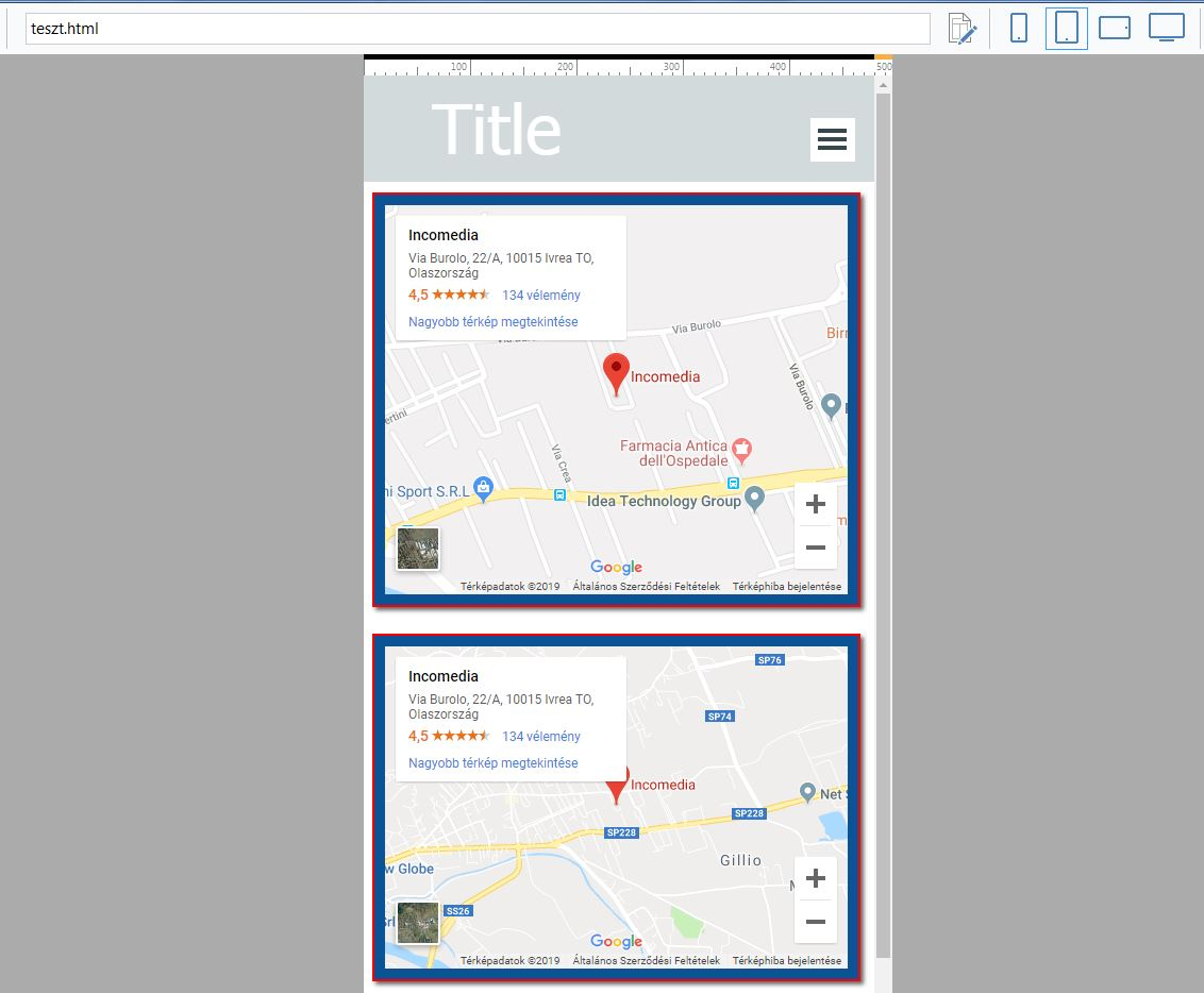 Website X5 Help Center Google Map Responsive Option Or Percentage